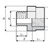 муфта компрессионная GxG схема